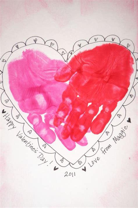 valentines crafts s handprint craft con las manos