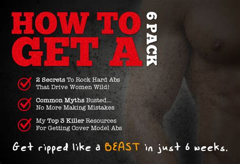 how to get a six pack the ultimate guide to getting ripped