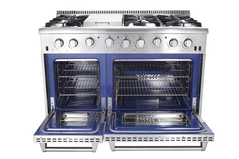 ranges cooktops ovens best buy 48 in 6 7 cu ft double oven gas range with convection