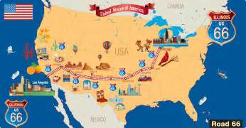 united states map showing route 66 8 things you may not about route 66 history lists
