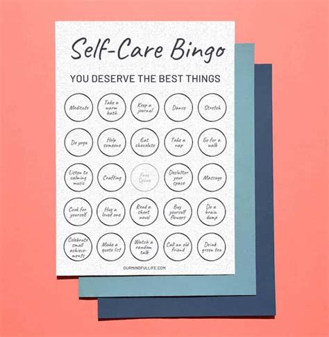 printable bingo game     care routine
