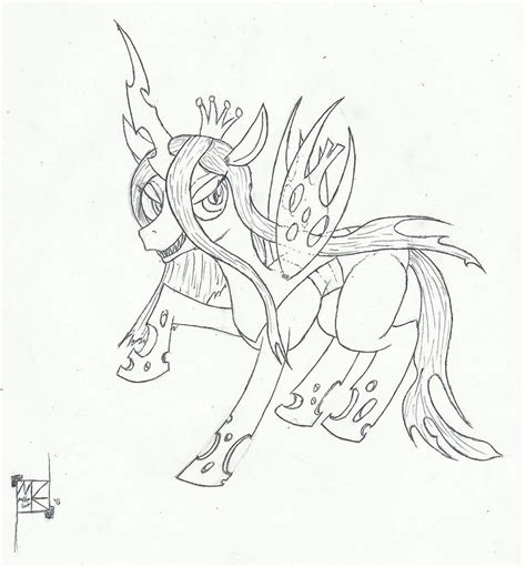 my little pony queen chrysalis coloring pages www imgkid