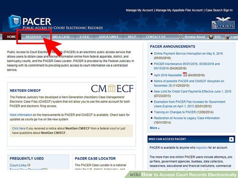 Access To Electronic Court Records Website How To Access Court Records Electronically 10 Steps