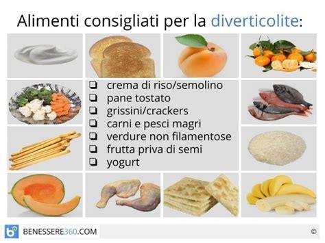 alimenti consigliati per colite dieta per diverticoli cosa mangiare alimenti consigliati