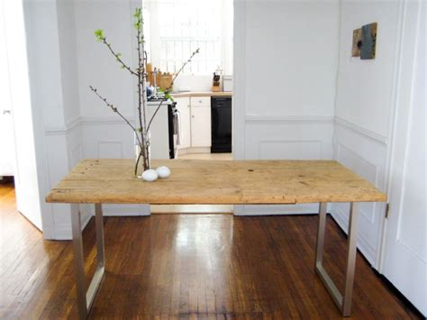 diy u shaped table legs diy an meets new dining table for 125 remodelista