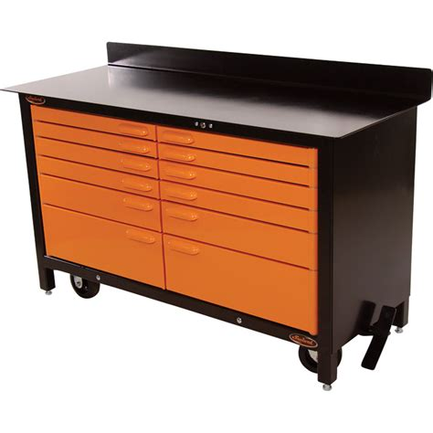 tool storage bench swivel storage solutions 60in movable workbench model