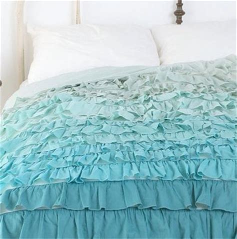 teal ruffle bedding shabby beach cottage chic green teal dreamy ruffled