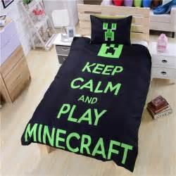 Single Comforter Size Minecraft Duvet Set Bedding Bedroom Single Double Queen