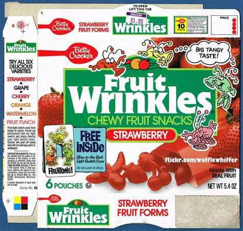 7 up fruit snacks fruit wrinkles fruit snacks 1989 this is one of the