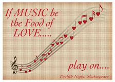 play the valentines song notes shape stock photos images pictures