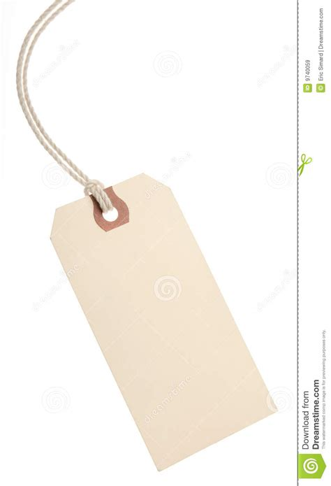 How To Make Paper Tags - blank paper tag stock image image of retail unfinished