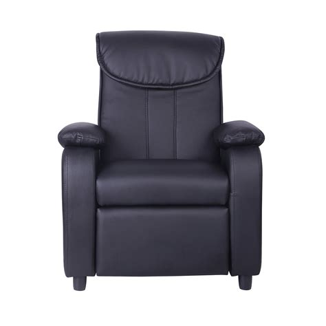 leather recliner armchair uk kids childrens faux leather padded reclining recliner