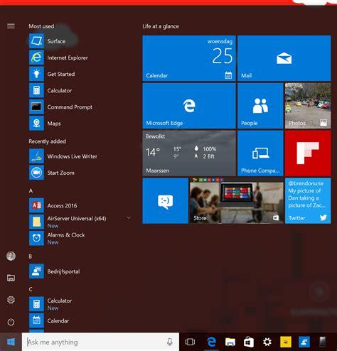 export start layout xml windows 10 customize windows 10 start menu with configuration manager