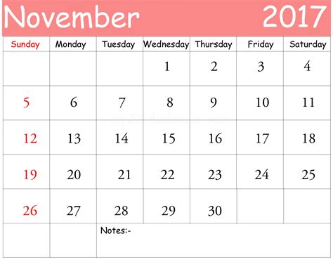 Calendar 2017 Template With Holidays November 2017 Calendar Printable Template With Holidays Uk
