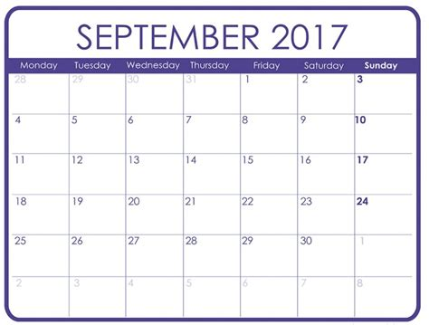 printable calendar template september 2017 september 2017 calendar printable template