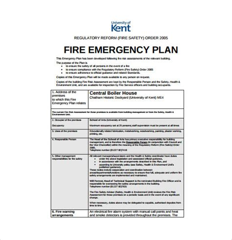 Emergency Plan Template by Emergency Preparedness Plan Template Uk Templates