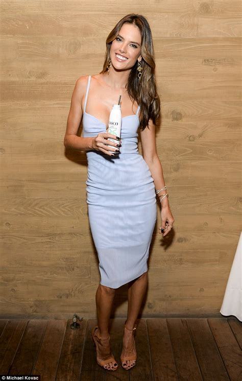 Alessandra Ambrosio Promotes Something Or Another by Alessandra Ambrosio Looks Radiant As She Is Unveiled As
