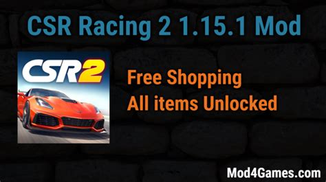 game mod free shopping csr racing 2 1 15 1 mod free shopping all items