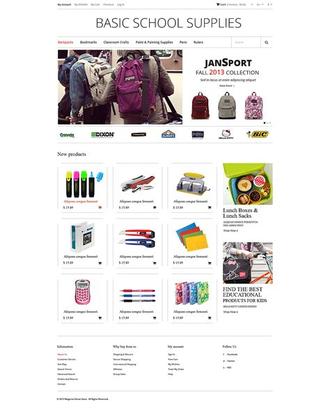 education theme magento useful stationary wholesale stores magento themes