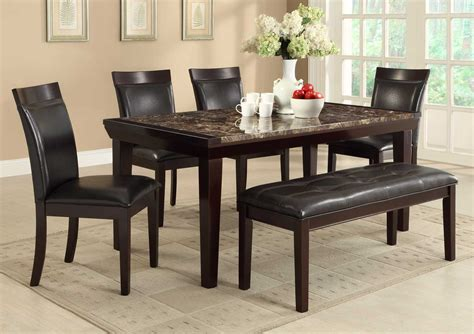 marble dining room set homelegance thurston faux marble dining set espresso