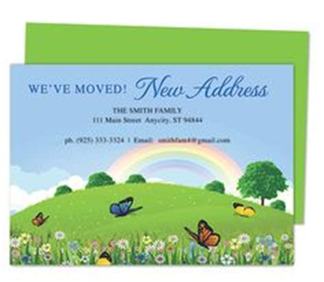 moving cards templates 1000 images about moving announcements new address