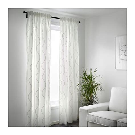 Ikea Textiles Curtains Decorating Hillmari Curtains 1 Pair White 145x250 Cm Ikea