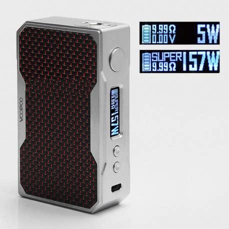 Mod Authentic 100 Drag By Voopoo 157 Watt Authentic Voopoo Drag 157w Silver Black Tc Vw Box Mod