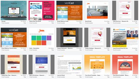 hubspot template marketplace 9 places to find quality email newsletter templates in 2017
