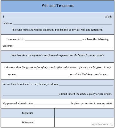 38 easy last will and testament free template sample last will and
