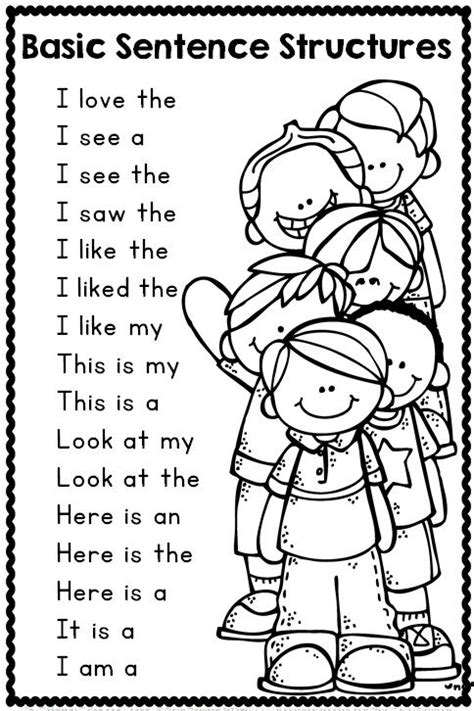 writing pattern sentences christmas coloring pages a well simple sentences and