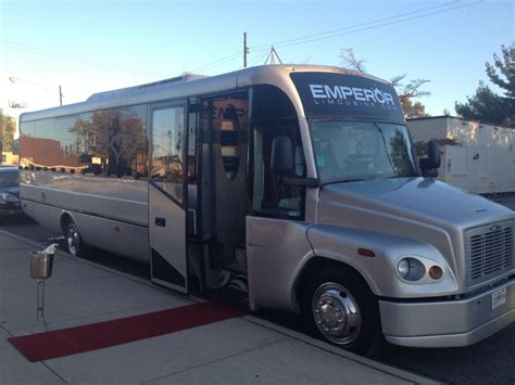 party bus outside the titanium edition party bus limousine 30 passenger