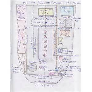 the engine room drawing layout of top platform in ship s engine room