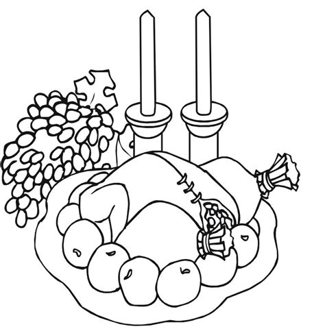 roast turkey coloring page roast turkey coloring pages