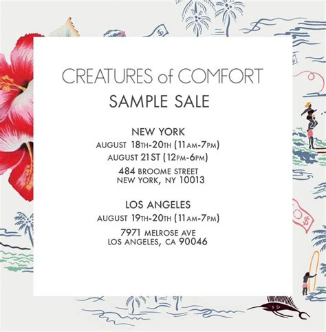 creatures of comfort sle sale new york august 2016