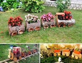 Make Flower Planters - diy yard art and garden ideas homemade outdoor crafts