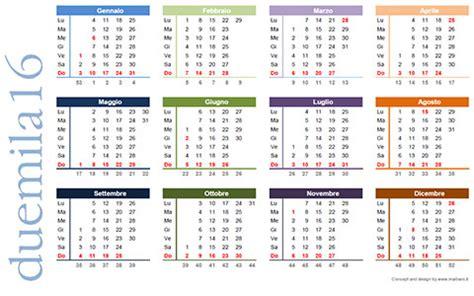 Calendario Con Settimane | calendario 2016 da stare scarica gratis in pdf