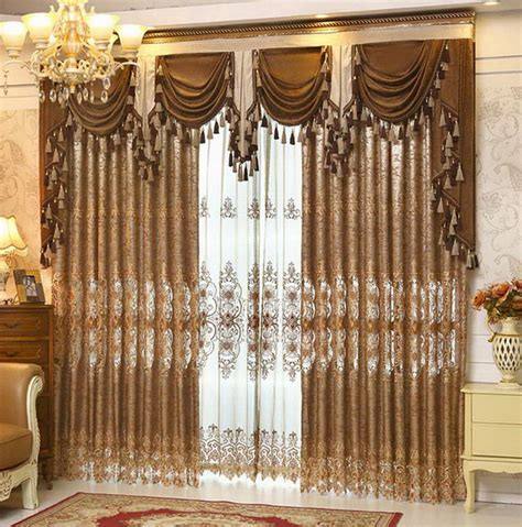 Valance Curtains For Living Room by Naturally Warm Brown Living Room Curtains Abpho