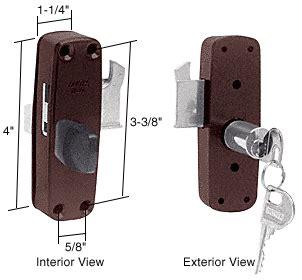 Keyed Patio Door Lock Outside Crl Bronze Patioguard Deadbolt Lock