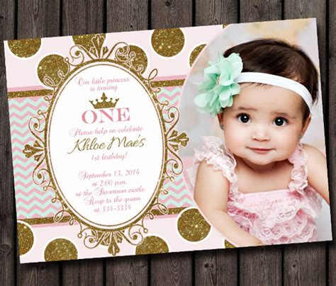 1st year birthday card template 30 birthday invitations free psd vector eps ai
