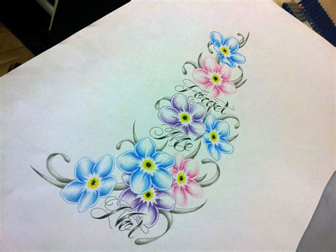 forget me not flower tattoo designs tattoos i like on cat tattoos forget me not