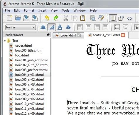 epub format source code sigil ebook editor