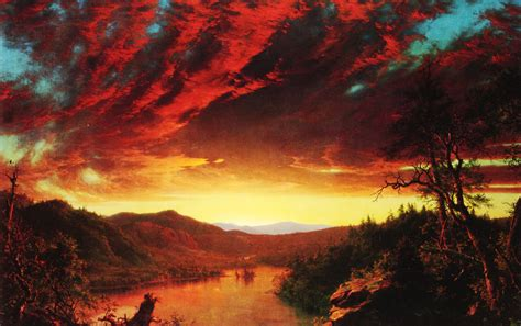 twilight painting 19th century american paintings frederic edwin church ctd