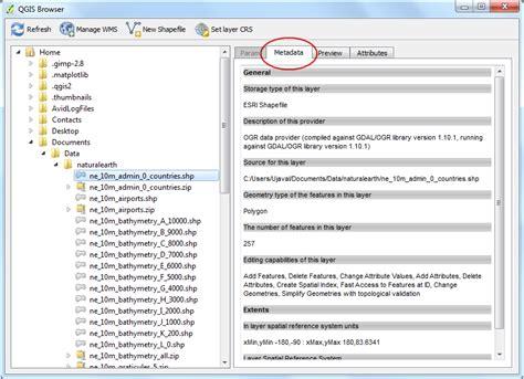 qgis quick tutorial using the qgis browser qgis tutorials and tips