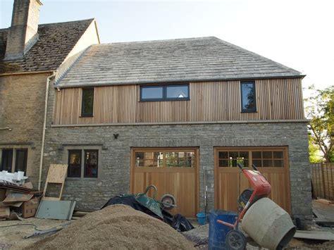 vertical cedar cladding    garage bedroom