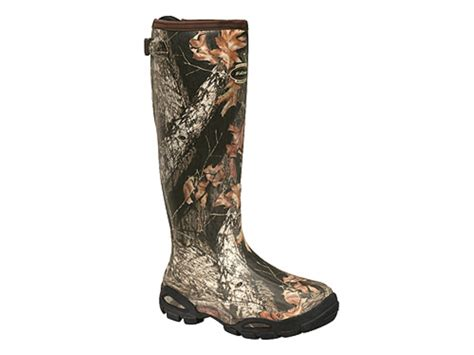 Womens Camo Rubber Boots by Lacrosse Alpha Burly Sport 18 Waterproof Uninsulated