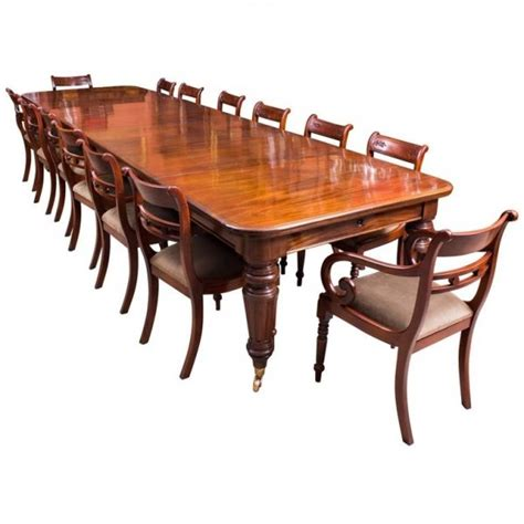 Dining Tables For 14 Antique 14 Ft Mahogany Extending Dining Table 14 Chairs Ref No 08161a