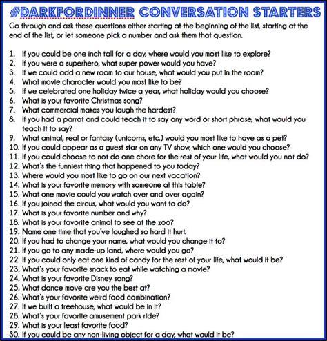 dinner conversation questions darkfordinner s day gift ideas
