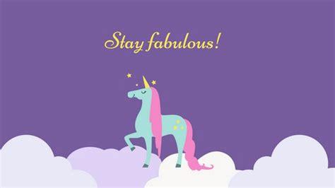 Fabulous Screen Wallpaper by Fabulous Unicorn Desktop Wallpaper Templates By Canva