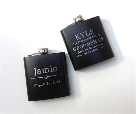 engraved groomsmen gifts personalized groomsmen gift engraved hip flask etched