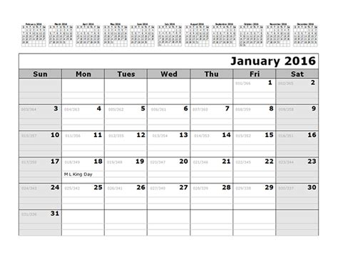 printable monthly calendar with julian dates 2016 monthly julian calendar 12 months top free